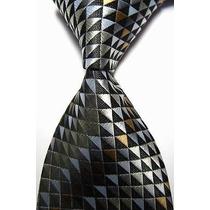Gravata 100% Silk Seda Importada Estampada Geométrico 5