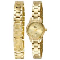 Relógio Dumont Feminino Troca Pulseiras Du2035lnr/4t