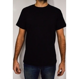 Remera Negra Mayorista Algodon Lisa Ideal Para Estampar