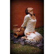 Ropa Vestido Informal Artesanal Pintado A Mano Flecos Mujer