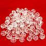 Contas Acrílicas Facetadas 10mm Imitação Cristal 500 Gramas