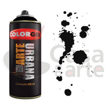 Tinta Spray Arte Urbana Colorgin 400ml Preto 945