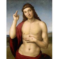 Lienzo Tela Bendición De Cristo Arte Sacro Rafael 60 X 50 Cm