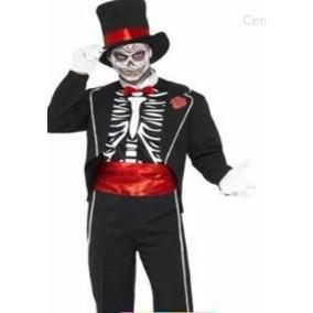 Disfraz De Catrin Niño Con Sombrero Y Mascara