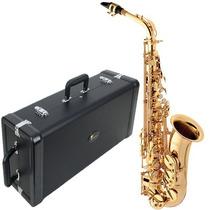 Saxofone Alto Em Mib Laqueado Aço Inoxidavel Sa501 Eagle