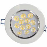Kit C/ 5 Lampada Led 12w P/ Forro Gesso Embutir