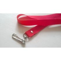 Porta Gafete De Color Rojo Cinta Polipripileno O Popotillo