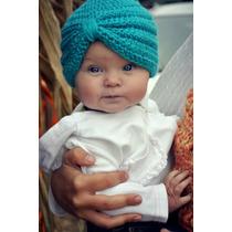 3 Hermosos Gorros Tipo Turbante Bebe Niña Tejidos, Crochet