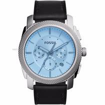 Relógio Fossil Machine Cronografo Fs5160 Couro Chronograph