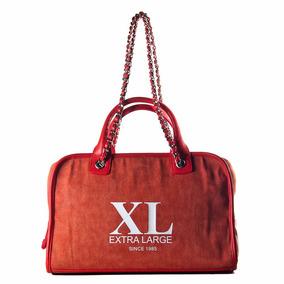 Xl Extra Large Ixum Baul Naranja Cartera Para Mujer.