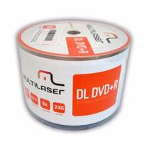 50 Midia Virgem Dvd+r Dl Multilaser (umedisc) 8.5gb 8x Print