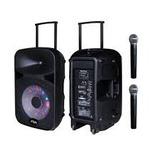 Bocina Karaoke Myo Con Microfono, Portatil Con Bateria 120wb