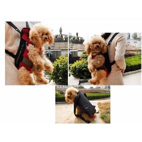 Bolsa Mochila Carregador Pet Cachorro Cão Vermelha Tam G