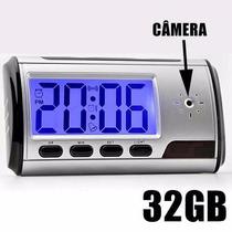 Relogio Espiao 32gb Sensor Presença Mini Micro Camera Espia