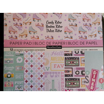 Scrapbook Cartulinas Decoradas Cardstock Candy Retro Papel