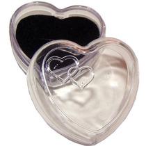 120 Embalagem Caixinha Coração Acrilico Atacado 120 Peças