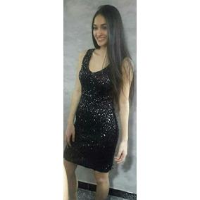 Vestido Corto Negro De Lentejuelas Modelo Studio F