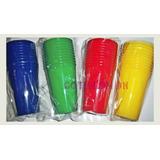 Vasos Descartables 330 Cc X 50un. Colores Varios Oferta!!