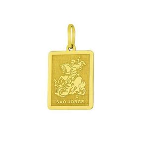 Pingente São Jorge Em Ouro 18k 750 Pg111