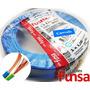 Cable Eléctrico Color Azul Multifilar 1mm Rollo 100m Funsa!