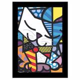 Quadro Releitura Romero Britto - Gato (45 X 65cm )