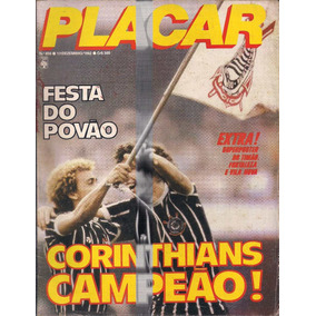 Placar - Corinthians Campeão Paulista - 1982