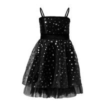 Vestido De Nena De Organza, Estampa Estrellitas, N-0006