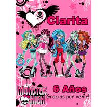 Monster High Souvenir Anotador Personalizado X32!!!