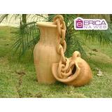 Enfeite Vaso Cerâmica Para Jardins Floricultura Plantas 54cm