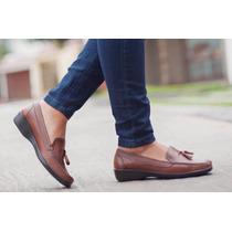 Oferta Mocasines Talla 38 1/2cuero,100% Cuero,zapato Mujer