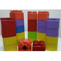 Brinquedo Educativo Blocos De Montar Grande 10 X 10 Cm
