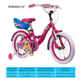 Bicicleta Rodado 16 Barbie Con Canasto Y Camara Lic Oficial
