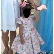 Vestido Menina Festa Rosa Divino Mio Bebe