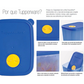 Vasilha Tupperware Freezertime Congelador 550ml + 1l - 3 Pç