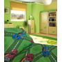 Kit Acolchado + Sabana + Cortina Infantil Varon 1 1/2 Plaza