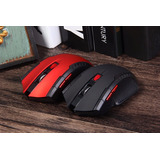 Mouse Inhalambrico Gamer 2.4ghz Aaa Rojo, Negro, Gris