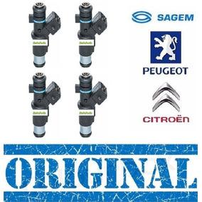 Jogo 4 Bico Injetor C3 Peugeot 206 1.4 8v 01f002a Sagem Novo