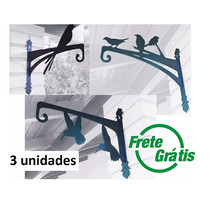Kit - Suporte Gancho Pendurar Flores - 3 Peças Frete Grátis