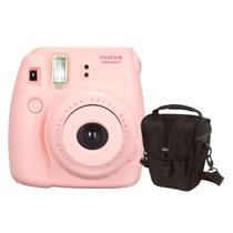 Câmera Instantânea Fujifilm Instax Mini 8 Rosa + Estojo