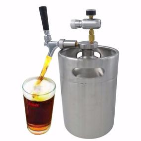 Pequeño Barril De Cerveza 5l Con Grifo Inyector Premium Co2