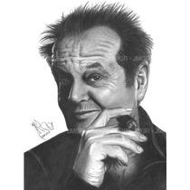Arte Dibujos Retratos A Mano Con Lapiz De Grafito 25x35cm