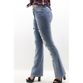 Calça Flare Jeans Destroyed Revanche