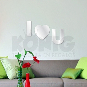espejo decorativo moderno originales unico barato i love you