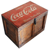 Baúl Madera Vintage Herraje P/cand. Coca Cola Grande M28