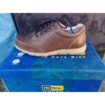 Zapato Marca 16 Hrs. Cuero Color Café N° 41