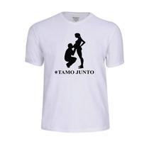 Camisa Camiseta Personalizada Gravida Gestante Tamo Junto