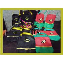 Bolsitas De Batman Y Robin Unicas
