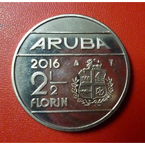 Aruba Moneda Willem Alexander De Holanda 2 1/2 Florin 2016