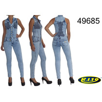 Macacão Jeans Ri19 Feminino