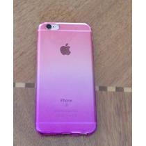 Funda De Silicona Color Degradado Rosa-morado